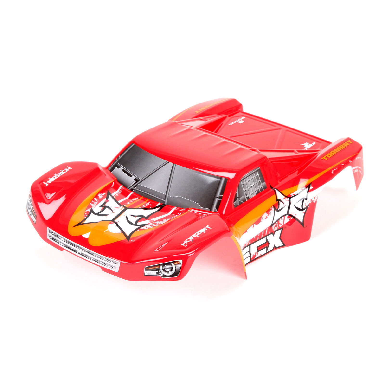 1/18 Painted Body Set, Red/Orange: 4WD Ruckus