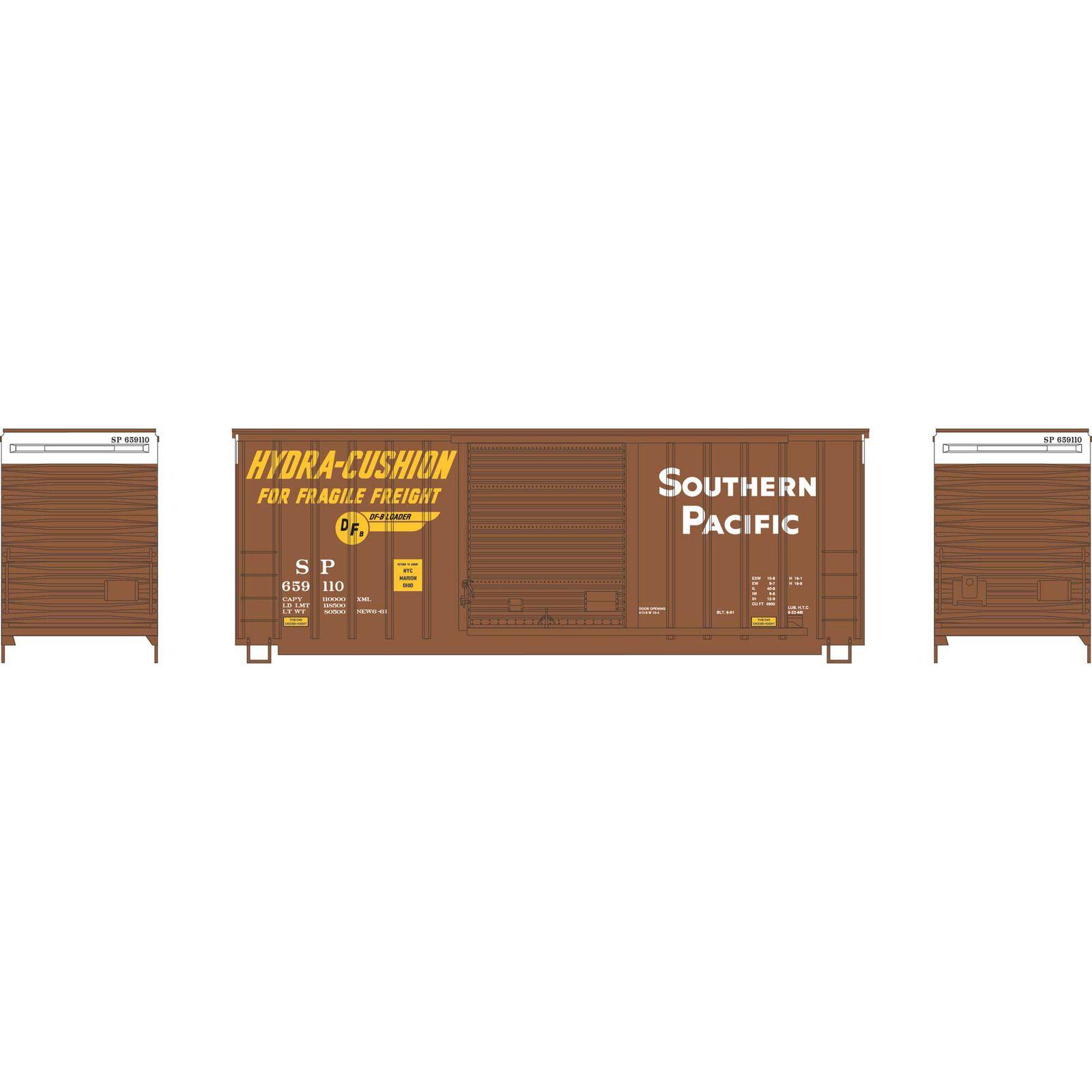 HO 40' High Cube Outside Braced Box, SP #659110