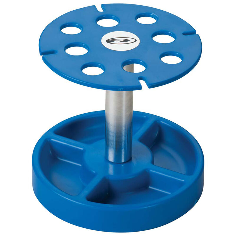 Pit Tech Deluxe Shock Stand, Blue