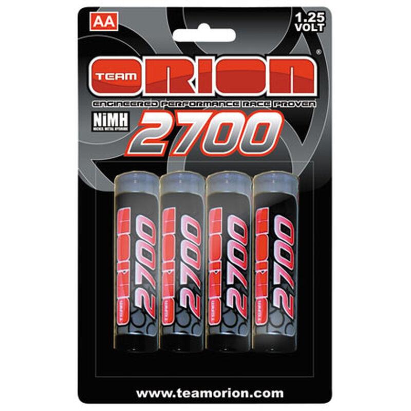 1.25V 2700mAh NiMH AA Batteries (4)