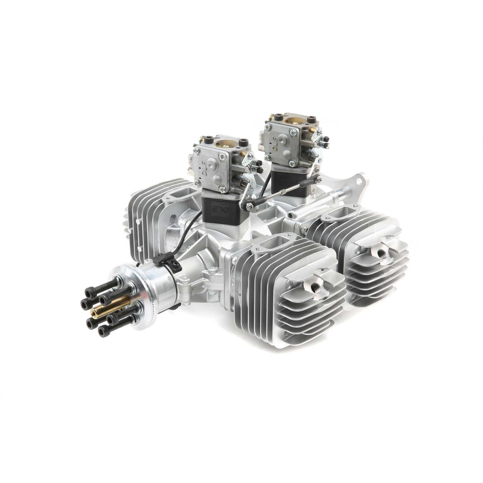 DLE-222 222cc 4-Cyl Gas Engine with Electronic Ignition and Mufflers