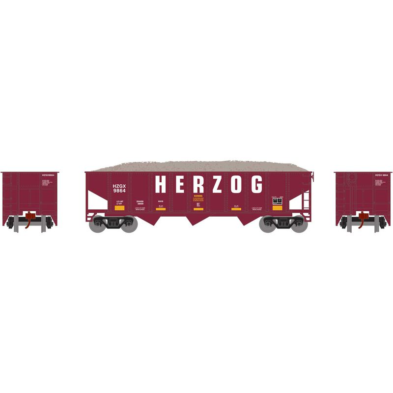 N 40' Outside Braced Hopper/Load, HZGX #9864