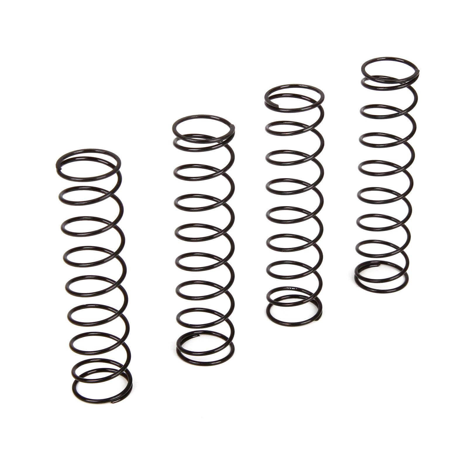 Shock Spring, Black, Set (4): 1/10 4WD All