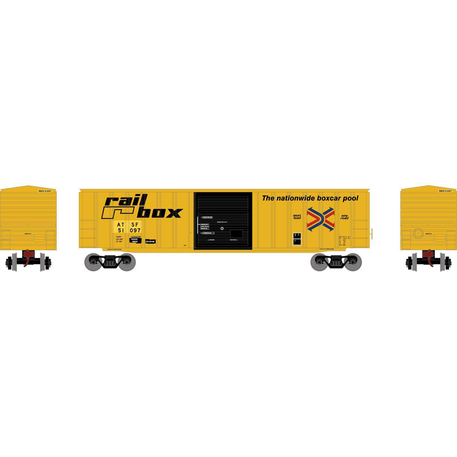HO 50' ACF Box, SF/RBOX #51097