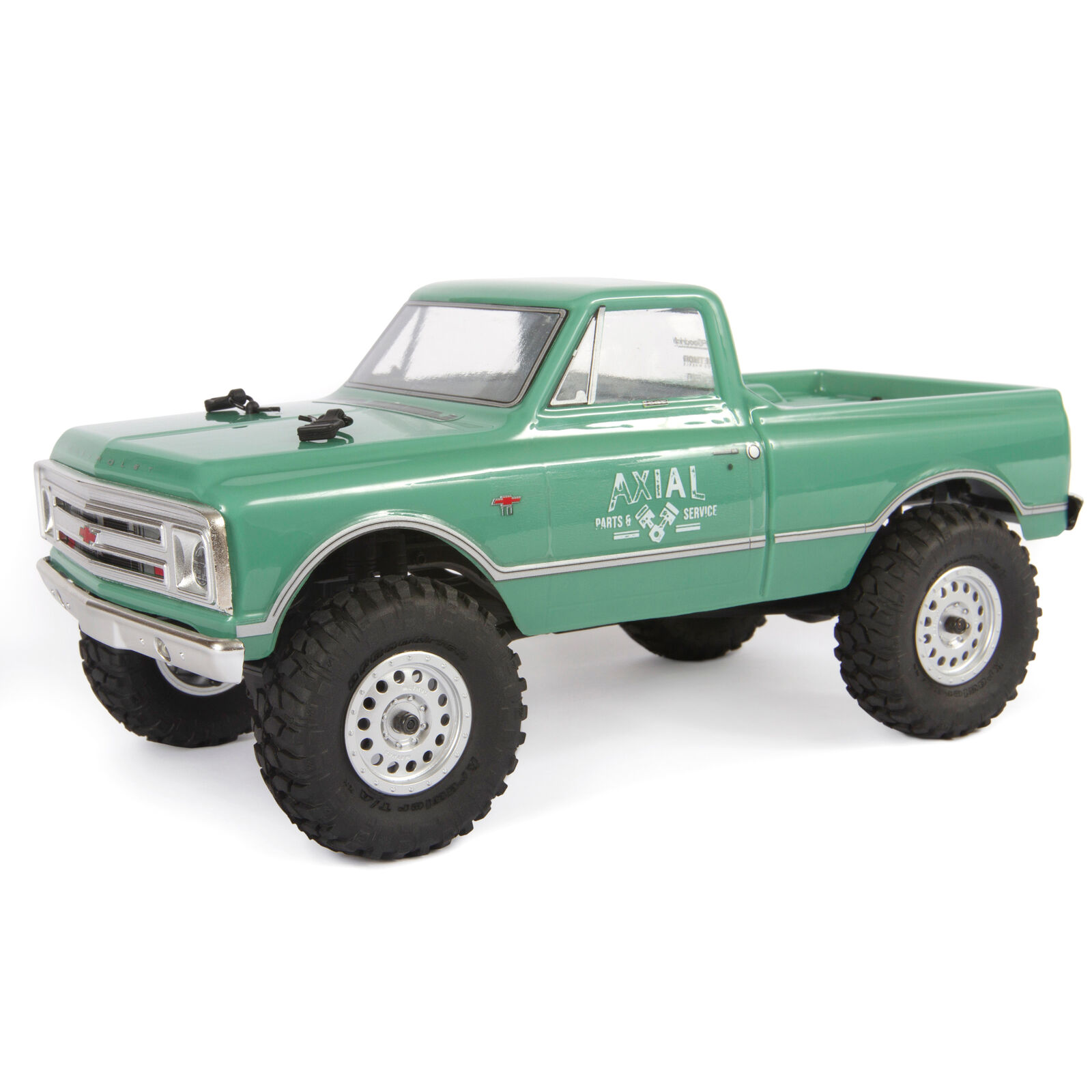 1/24 SCX24 1967 Chevrolet C10 4WD Truck Brushed RTR, Green