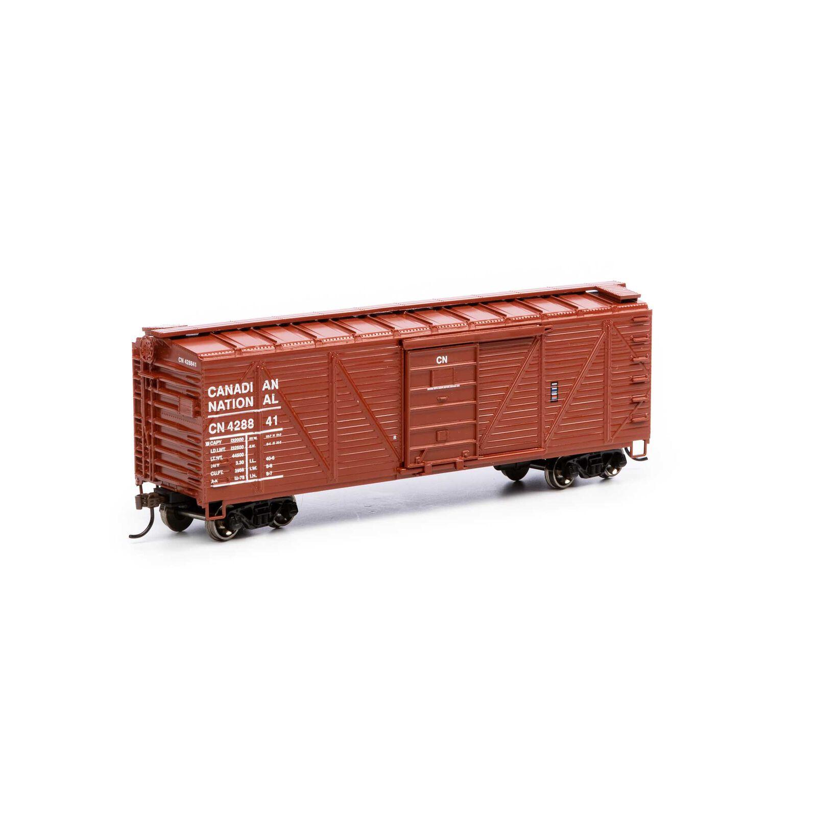 HO 40' Ribbed Wooden Box CN #428841