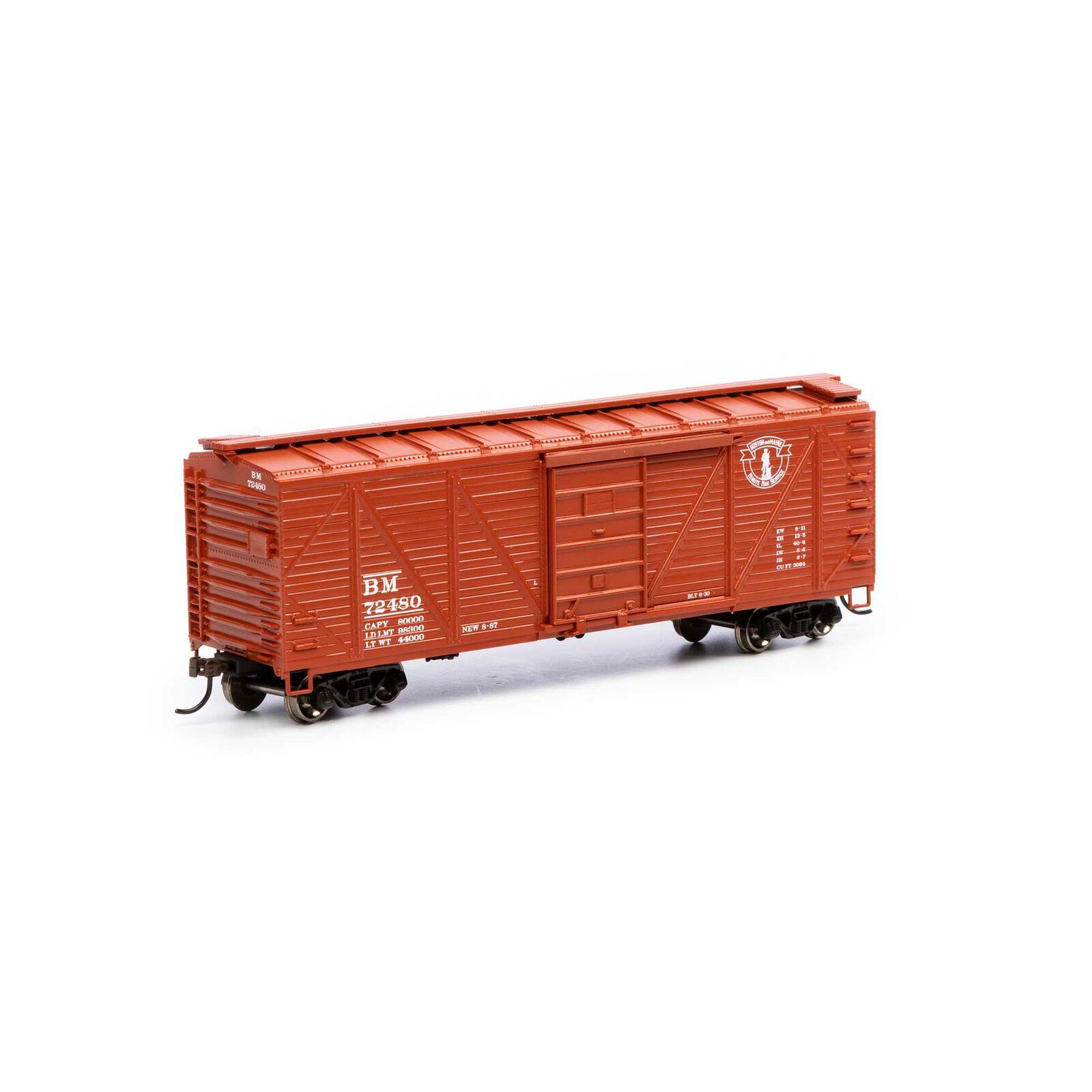 HO 40' Ribbed Wooden Box B&M #72480