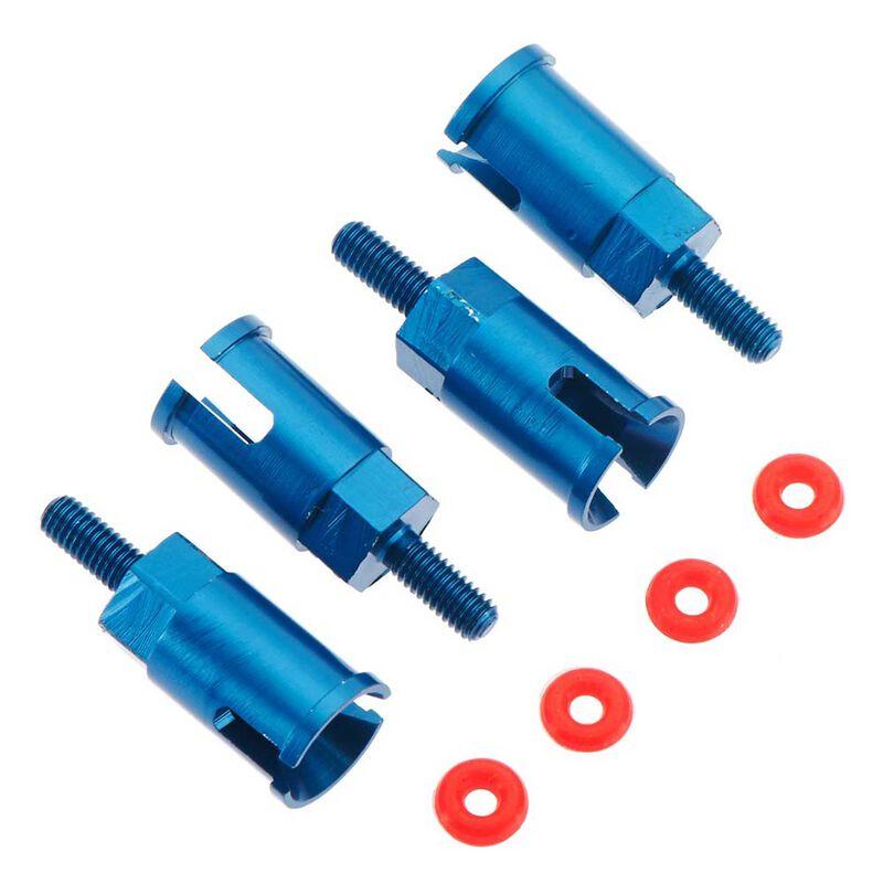 Aluminum Axle Set, Blue (4): BX MT SC 4.18