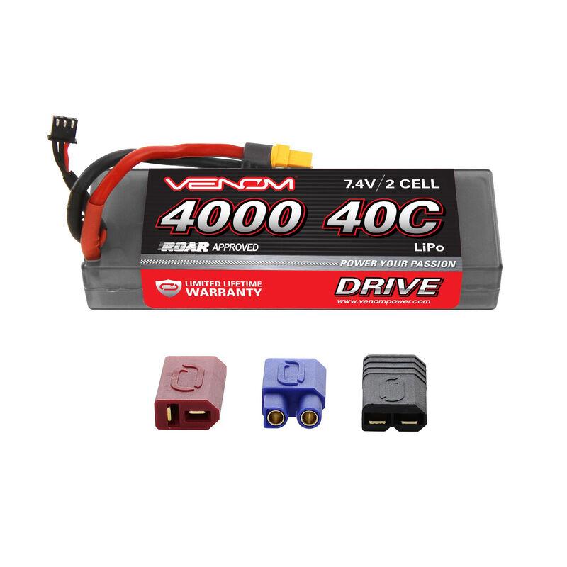 7.4V 4000mAh 2S 40C DRIVE Sport Power LiPo Battery: UNI 2.0 Plug