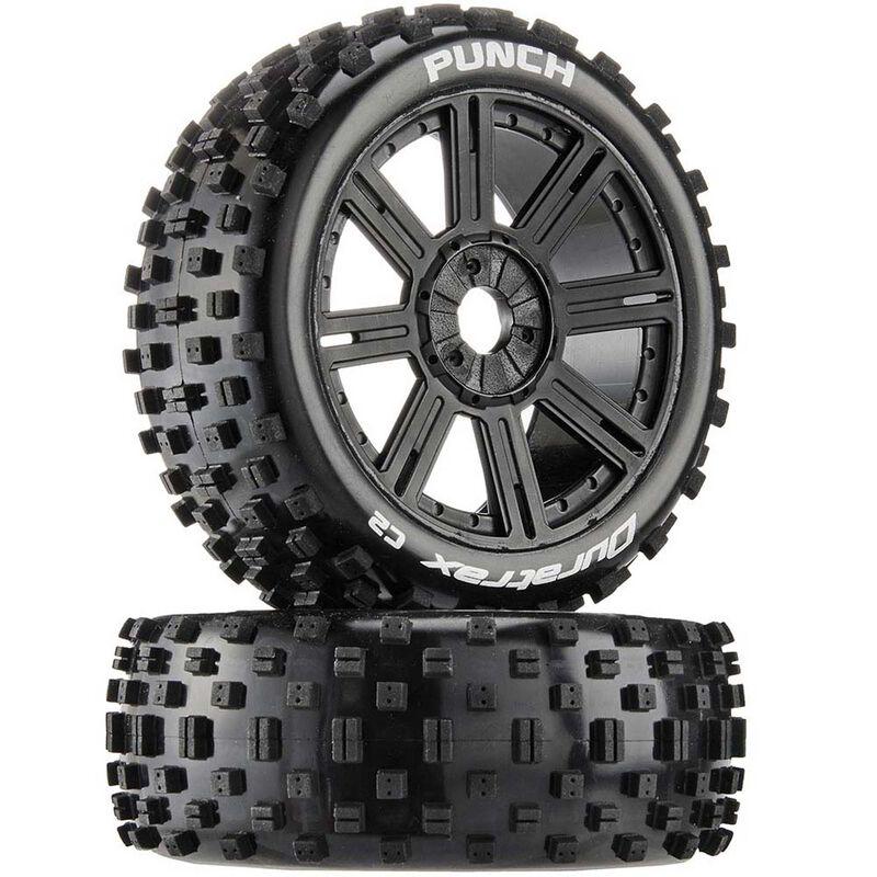 Punch C2 Mounted Buggy Spoke Tires, Black (2)