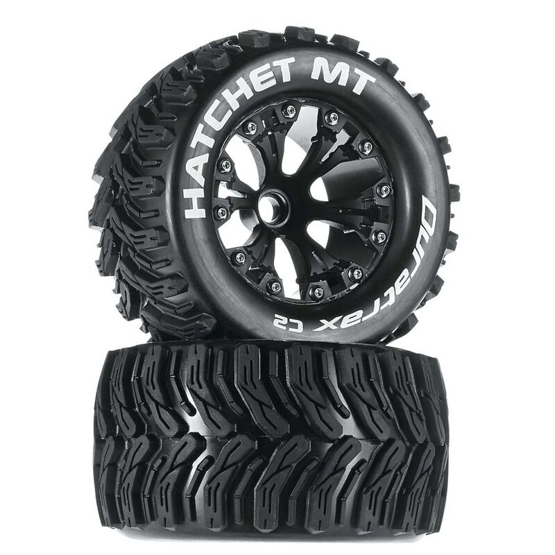 "Hatchet MT 2.8"" 2WD Mounted Front Tires, Black (2)"