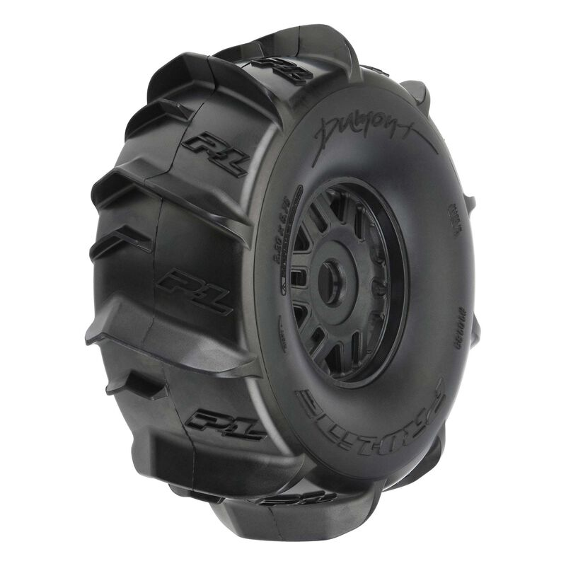 Dumont Paddle Mounted Front/Rear Tires, Black (2): Mojave