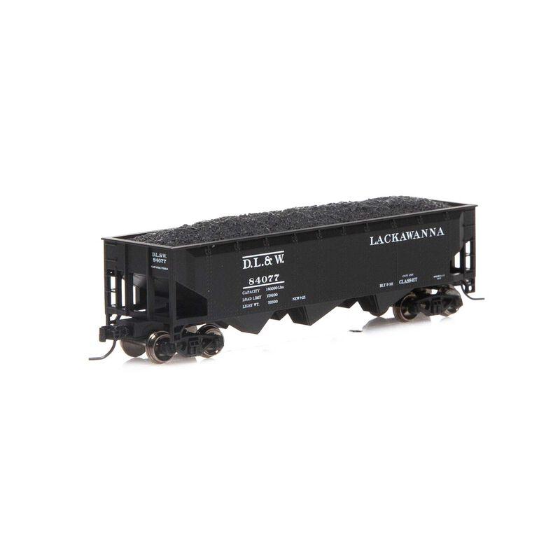 N 40' 3-Bay Offset Hopper with Load DL&W #84077