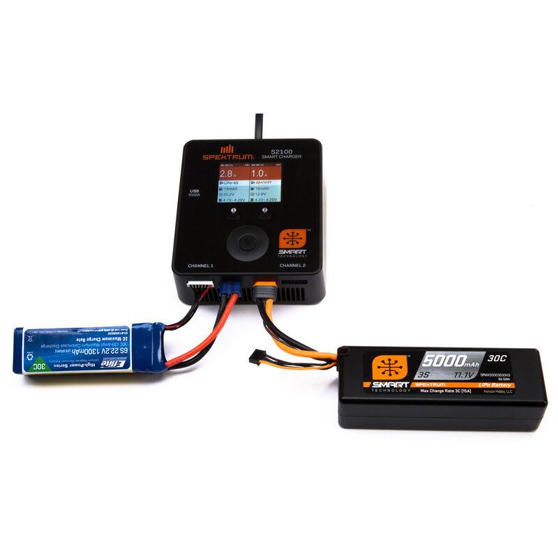 11.1V 5000mAh 3S 30C Smart Hardcase LiPo Battery: IC5