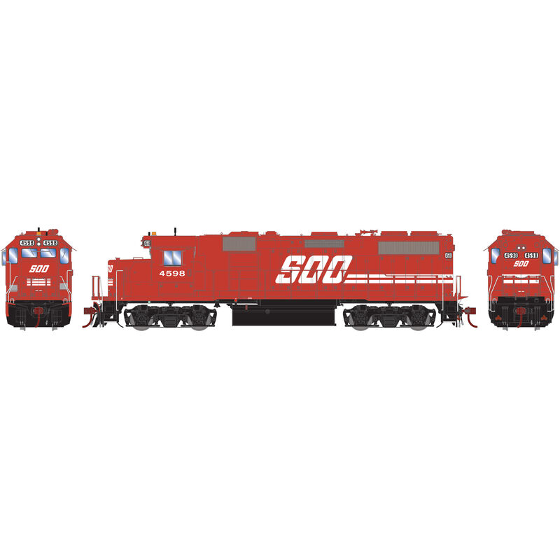 HO GP39-2 with DCC & Sound SOO Red #4598