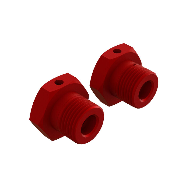 Aluminum Wheel, 17mm Hex, Red (2)