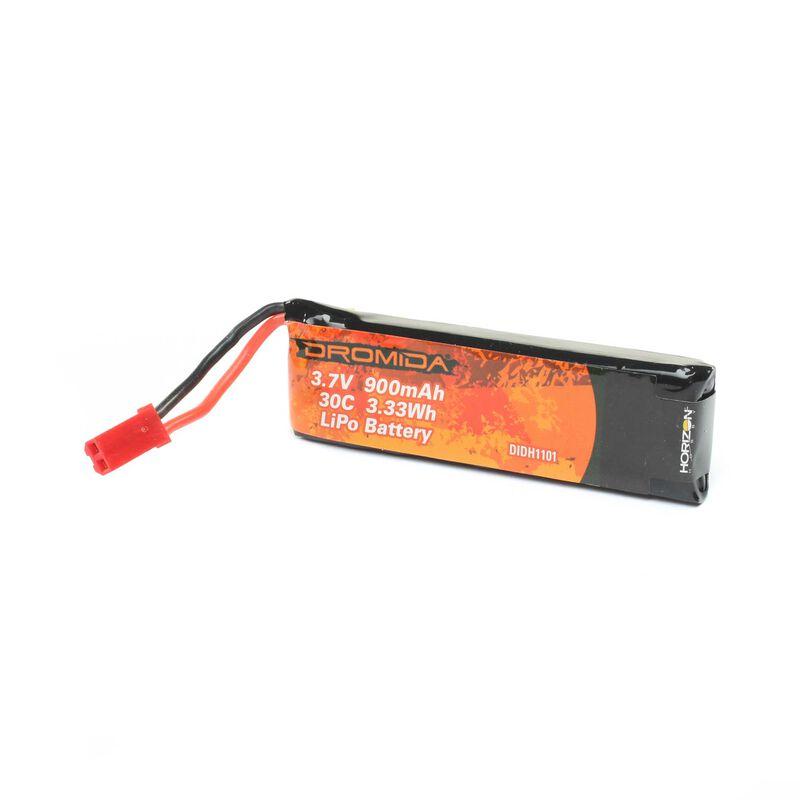 3.7V 900mAh 1S 30C LiPo with JST Plug