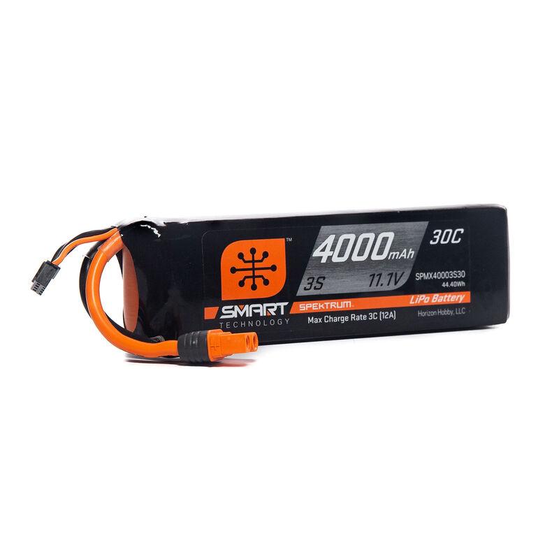 4000mAh 3S 11.1V Smart LiPo Battery 30C, IC3