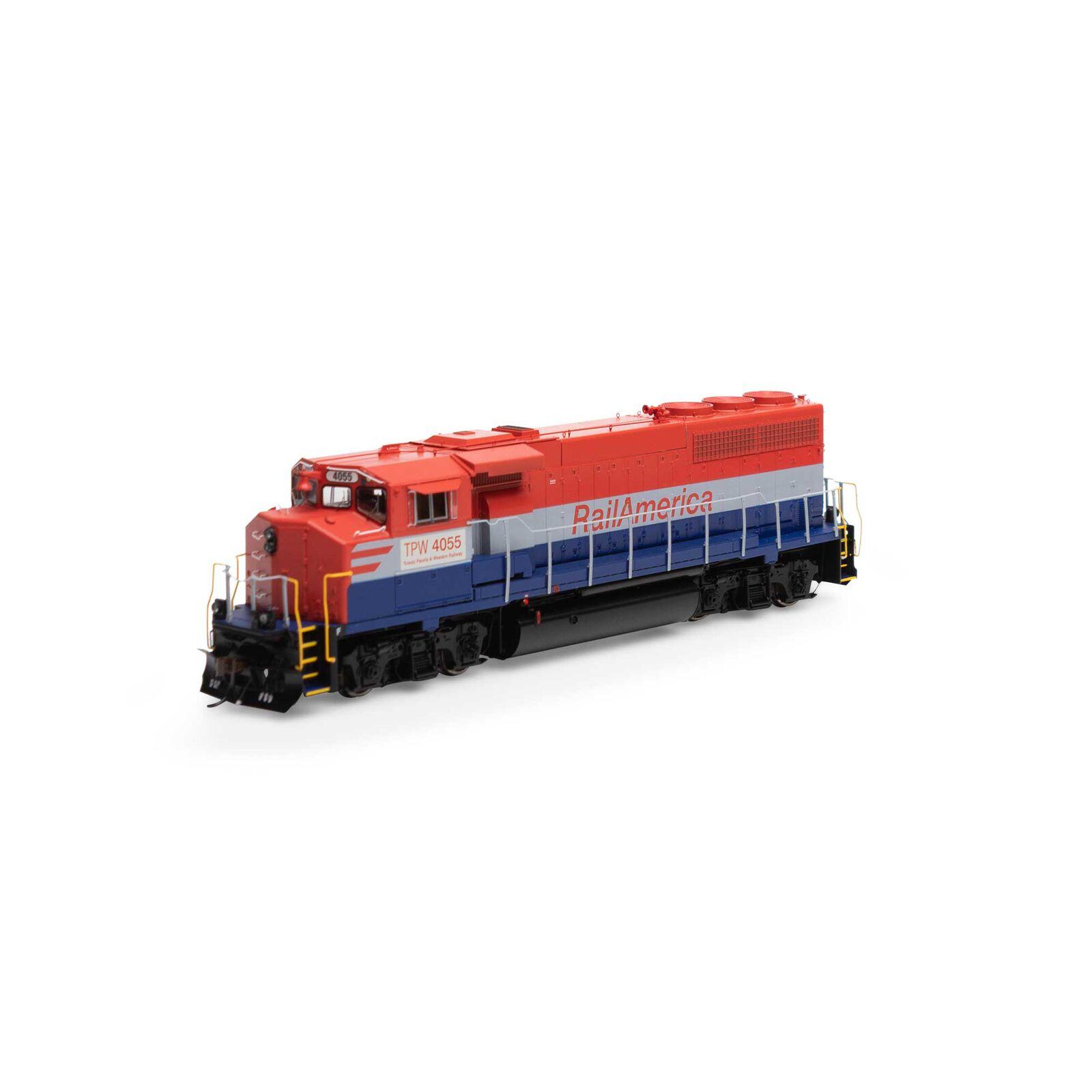 HO GP40-2L with DCC & Sound, Rail America/TP&W #4055