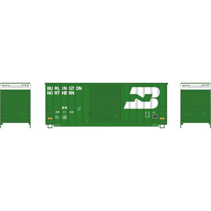 HO 40' High Cube Outside Braced Box, BN #281166