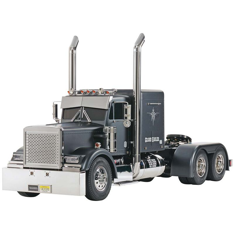 1/14 Grand Hauler 4WD Semi Tractor Kit, Matte Black Edition