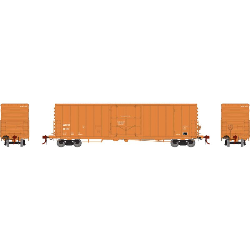 "HO 50' PC&F Riveted Box with 10' 6"" Door WCRC #10121"