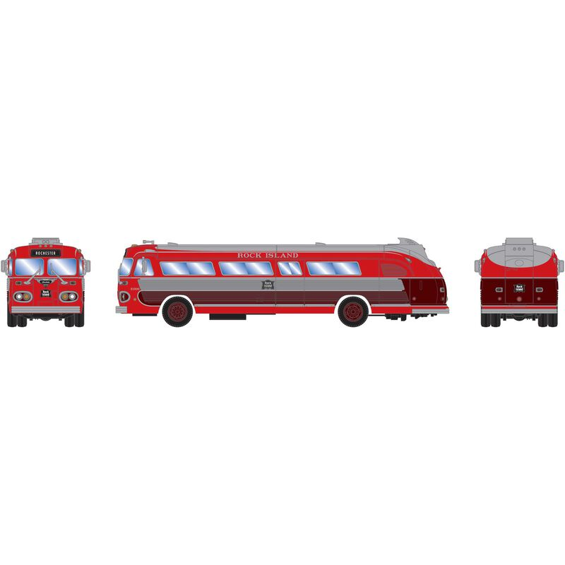 HO RTR Intercity Bus Rock Island #B1006