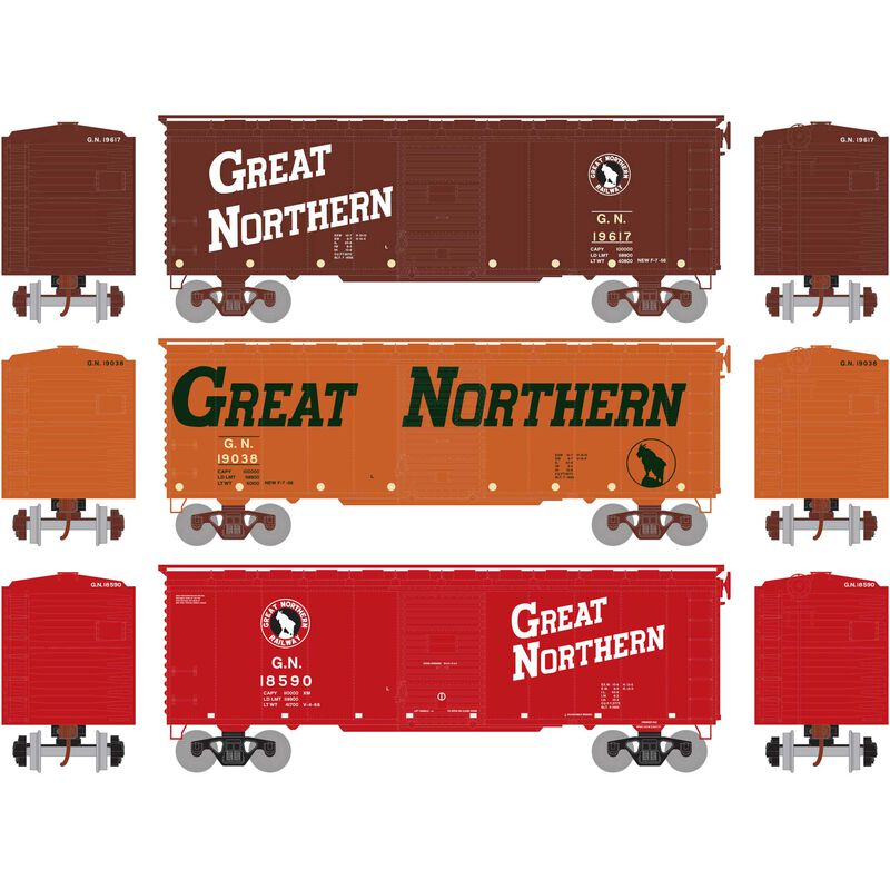 HO RTR 40' Youngstown Door Box, GN Circus #2 (3)