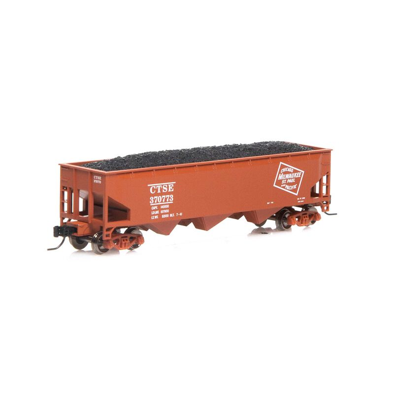 N 40' 3-Bay Offset Hopper with Load MILW #370773
