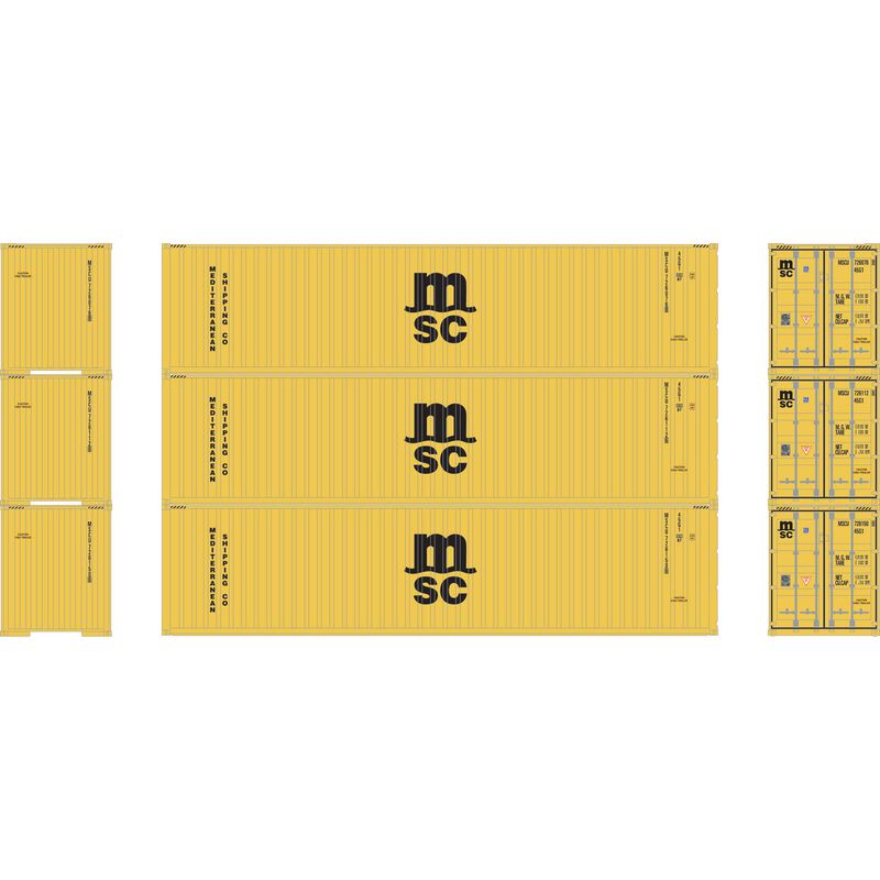 N 40' Corrugated HC Container, MSC/Yellow #2 (3)