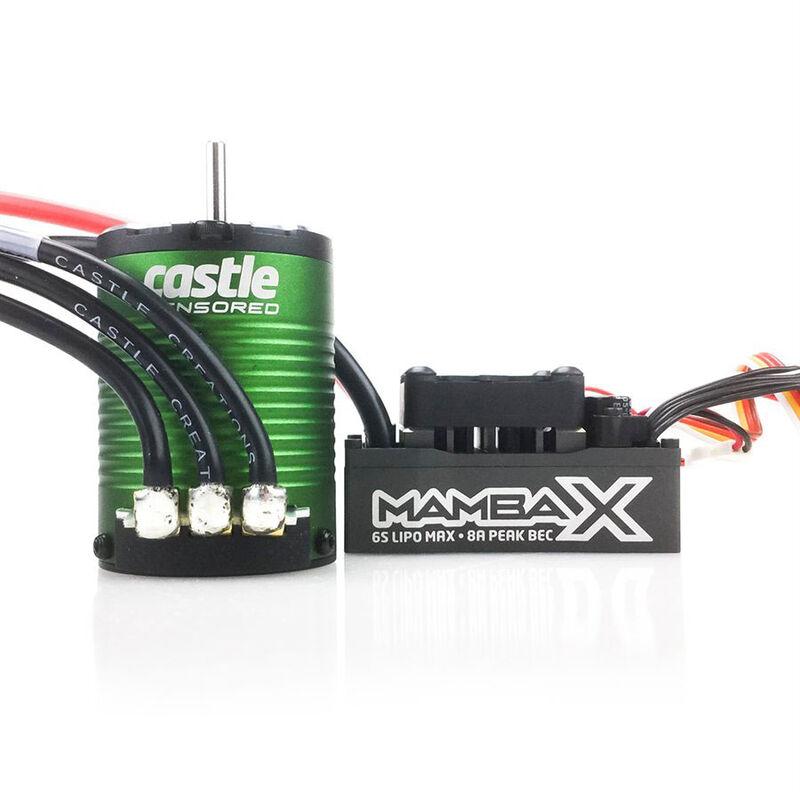 1/10 Mamba X Waterproof ESC/1406-7700Kv Sensored Brushless Motor Combo: 4mm Bullet