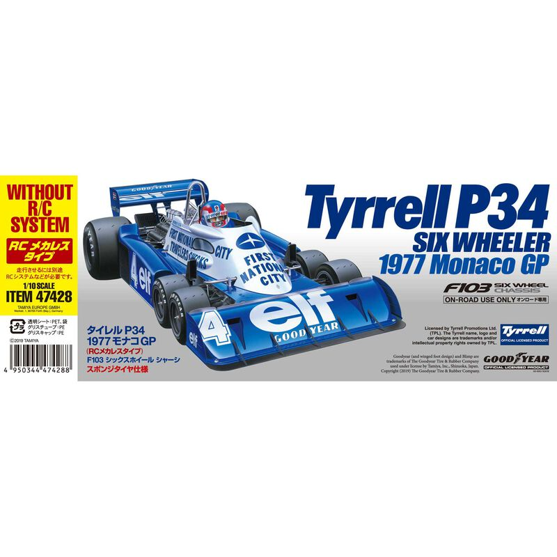 1/10 1977 Monaco GP Tyrell P34 Limited 4WD Pre-Built Roller