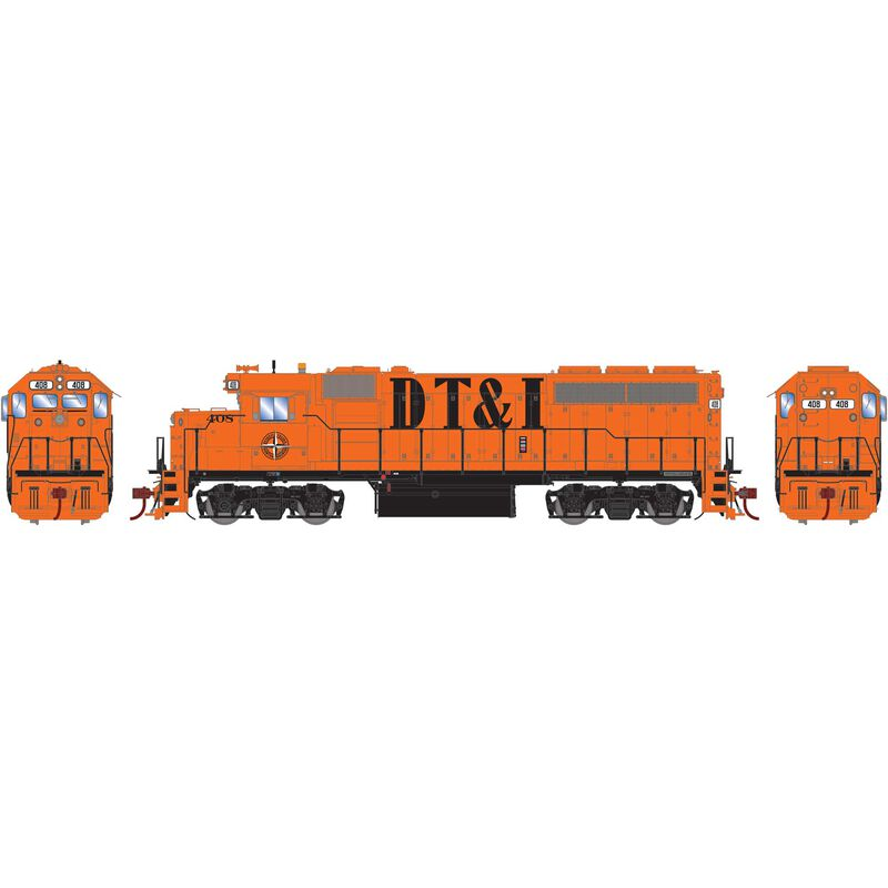 HO GP40-with with DCC & Sound DT&I #406