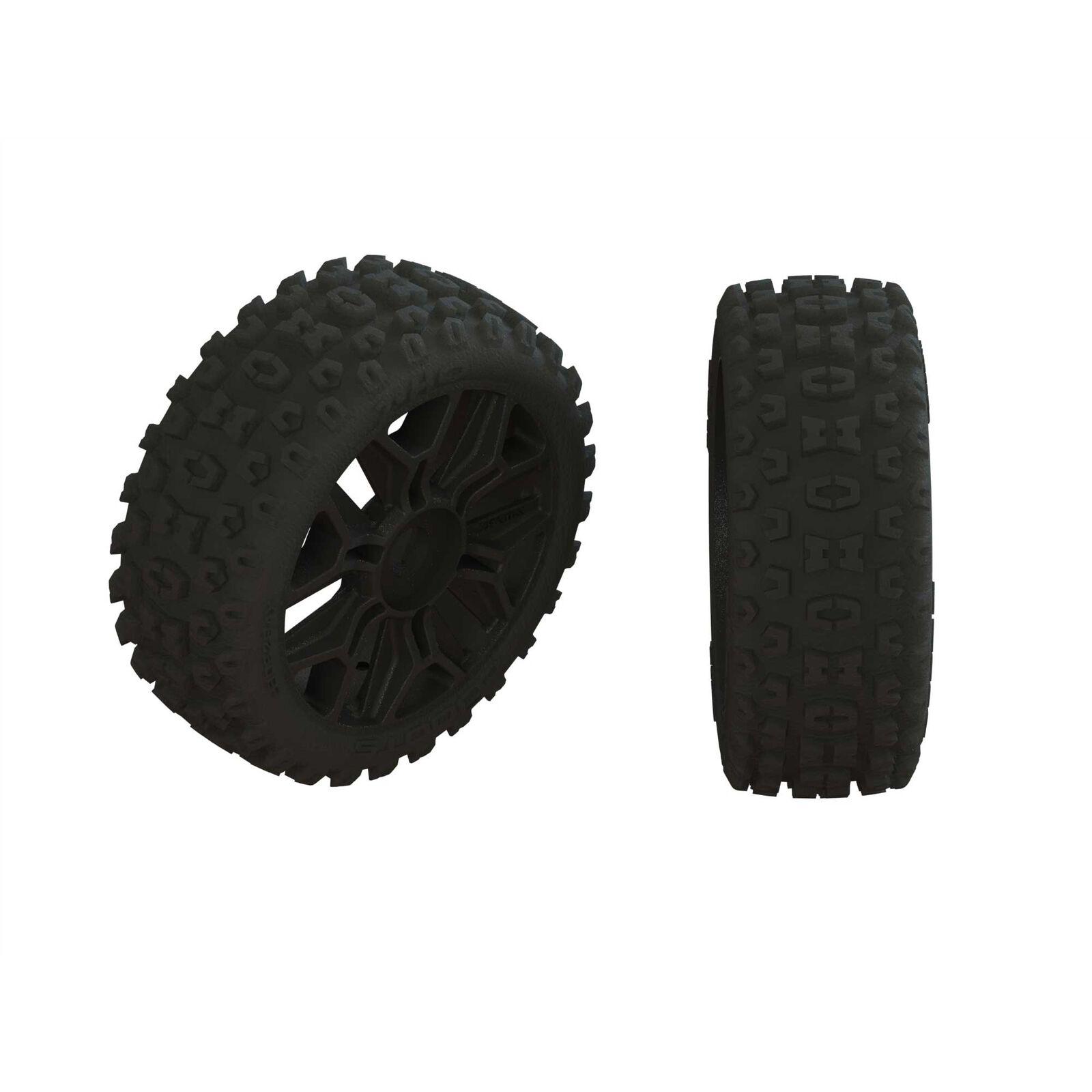 Dboots '2HO' Tire Set Glued Gun Metal (2)