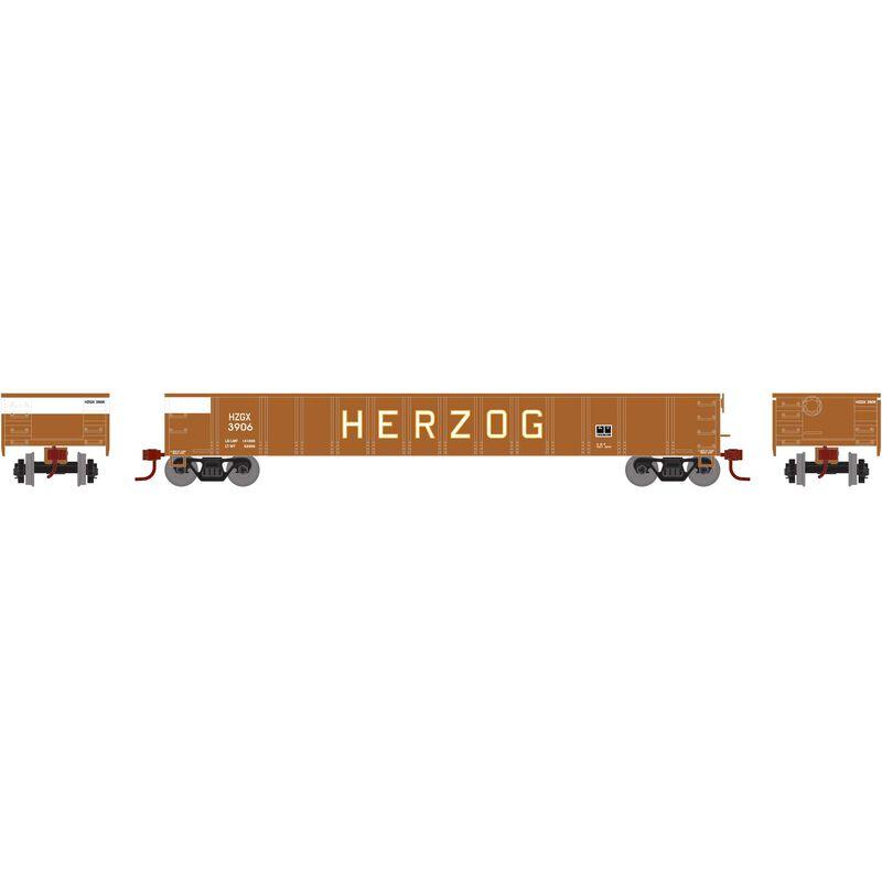 HO RTR 52' Mill Gondola HZGX #3906