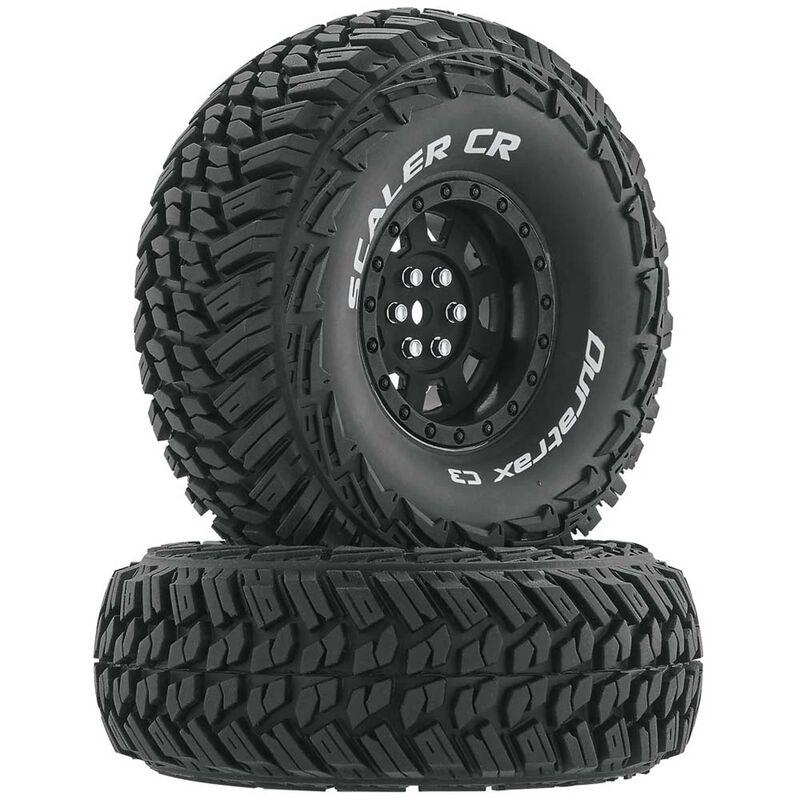 """Scaler CR C3 Mounted 1.9"""" Crawler Tires, Black (2)"""