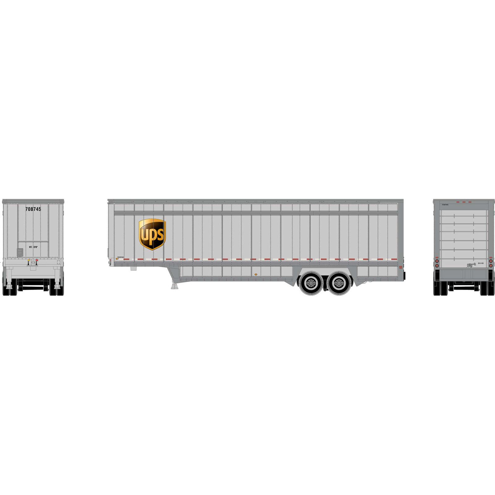 N 40' Drop Sill Parcel Trailer, UPS/Logo #708745