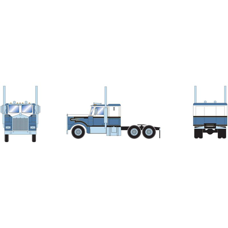 HO RTR Kenworth Tractor, Blue/White
