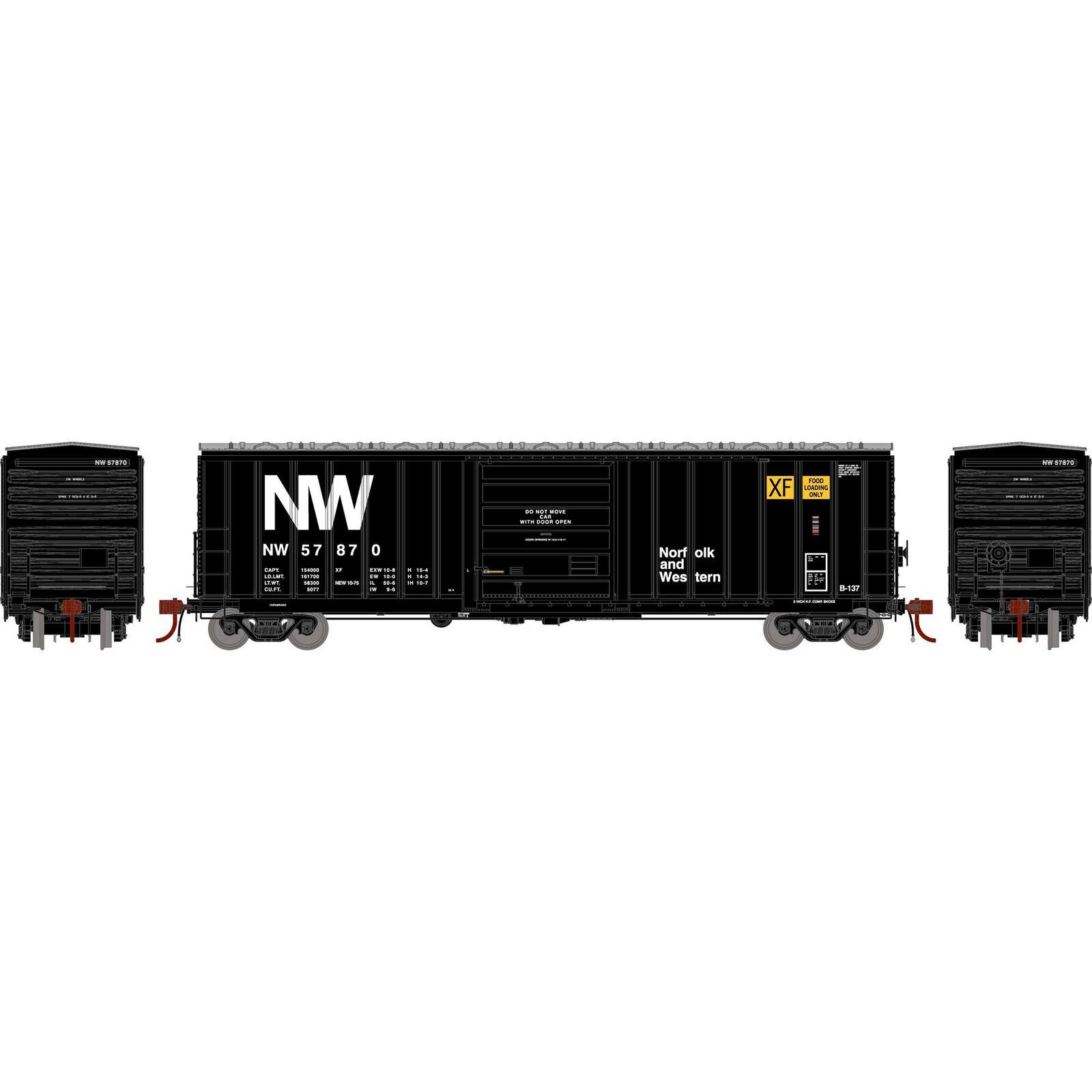 HO 50' SIECO Box, N&W #57870