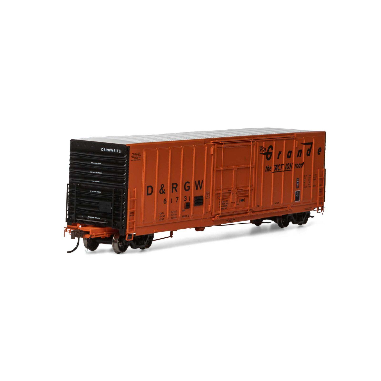 """HO 50' PC&F Ext Post 10'-6"""" Plug Box D&RGW #61731"""
