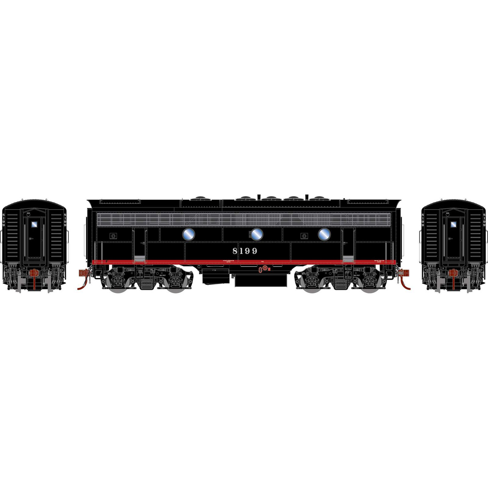 HO F7B with DCC & Sound SP Freight #8199