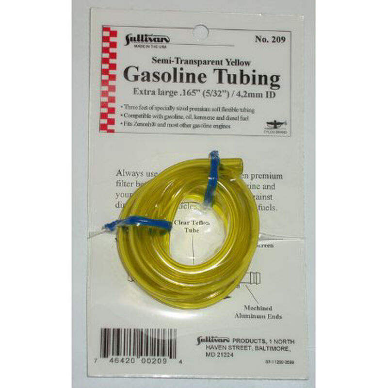 "Gas Tubing, 3', Extra-Large, 5/32"", Yellow"