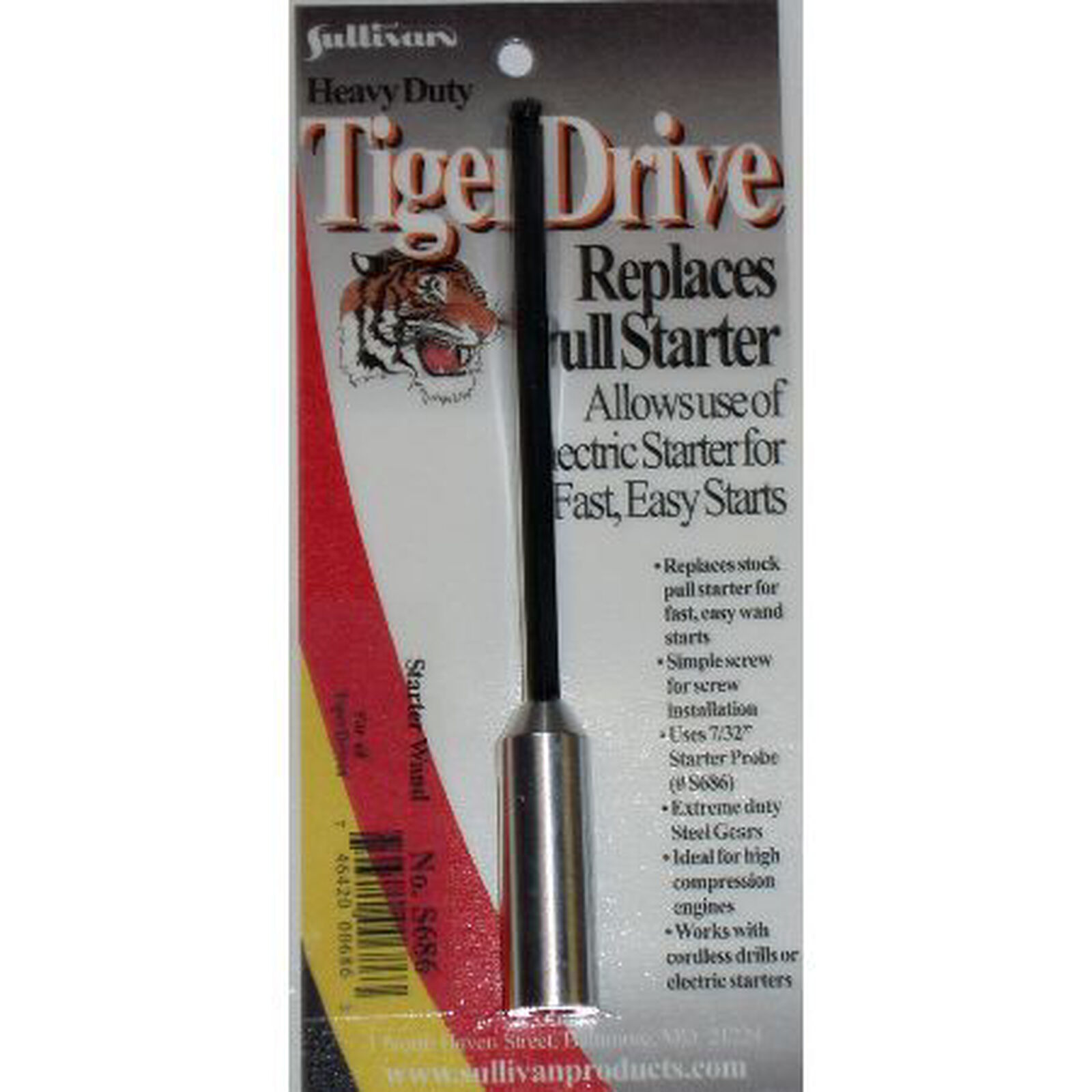 """TigerDrive Starter Wand with Adapter, 7/32"""""""