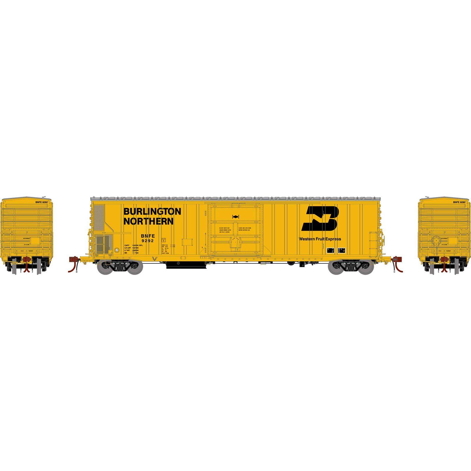 N FGE 57' Mechanical Reefer, BNFE/Yellow #9292