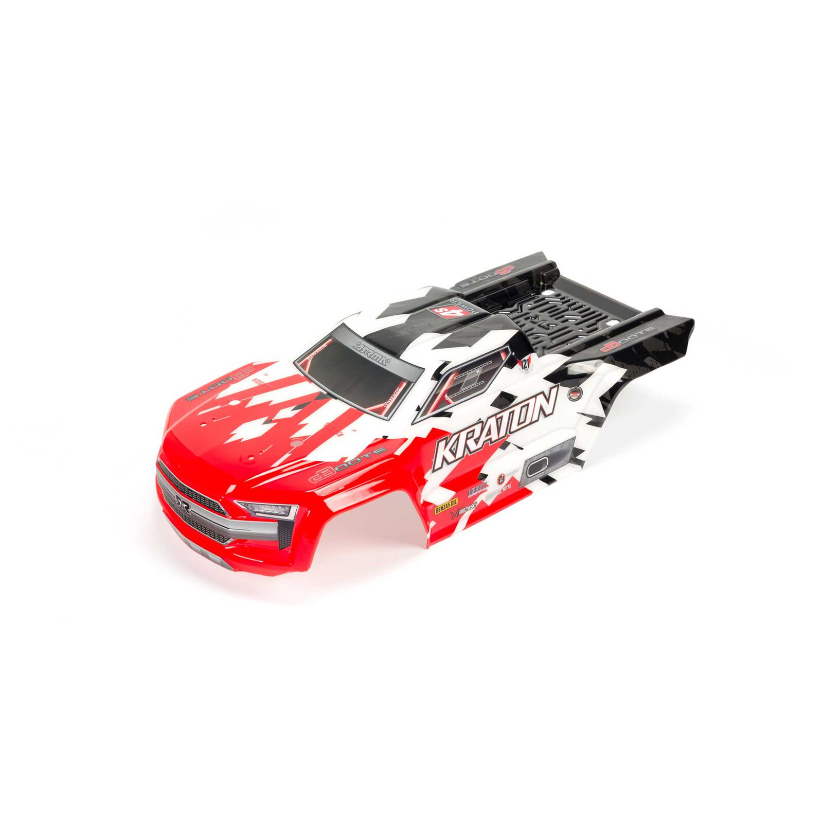 1/10 Painted Trimmed Body with Decals, Red: KRATON 4X4 BLX