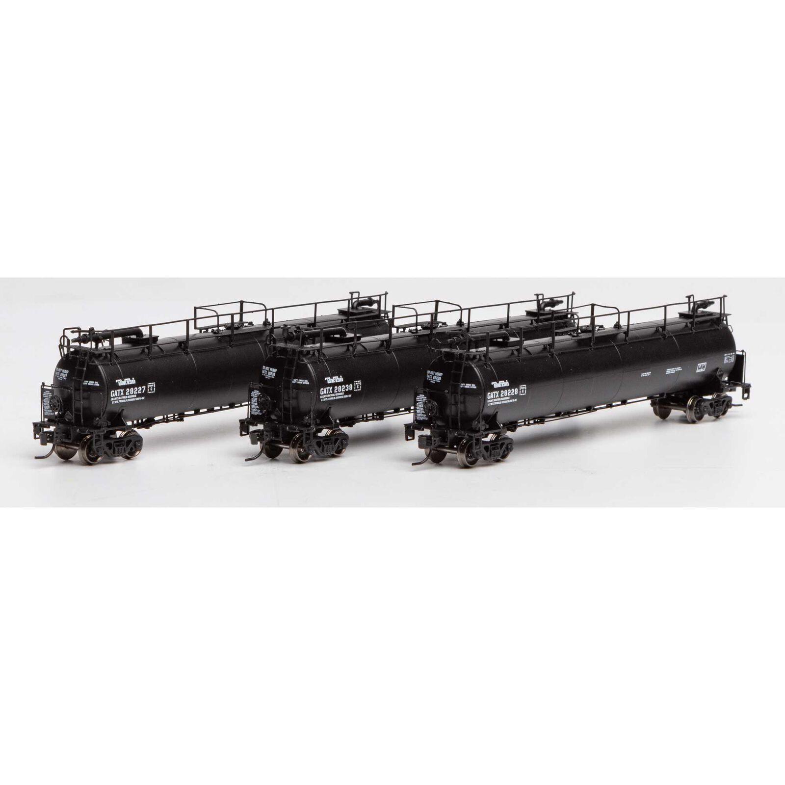 N TankTrain A/B &Int,GATX/Black #28227/28228/28238