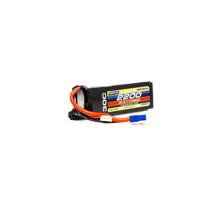 11.1V 2200mAh 3S 30C LiPo Battery: EC3