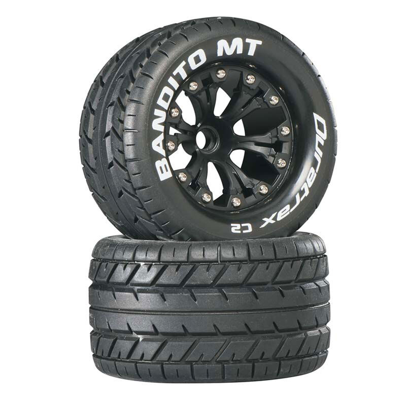 """Bandito MT 2.8"""" 2WD Mounted Front C2 Tires, Black (2)"""