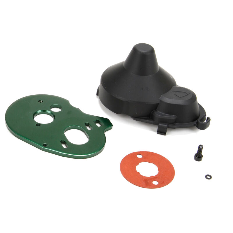 Motor Plate, Gear Cover, and Hardware: ASN