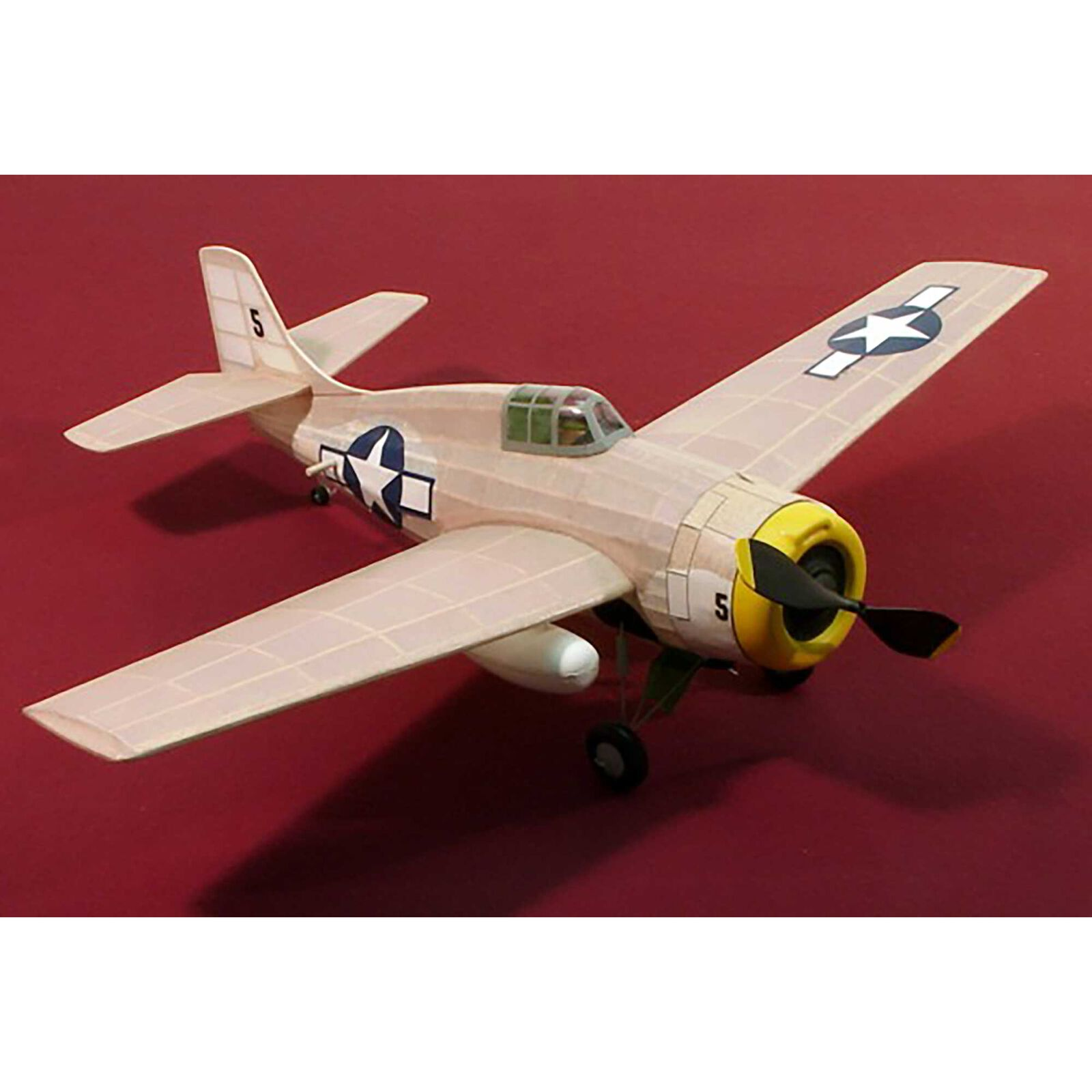 F-4F Wildcat Rubber Powered Kit, 17.5""
